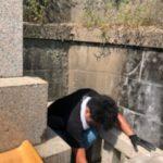 お墓の掃除依頼があり作業させて頂きました!